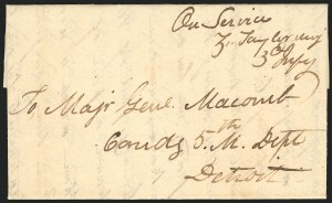 Sale Number 834, Lot Number 35, Presidential Autographs and Free FranksZachary Taylor, Zachary Taylor
