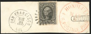 Sale Number 834, Lot Number 357, 1861-66 Issue (67 to 69)12c Black (69), 12c Black (69)