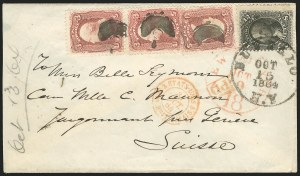 Sale Number 834, Lot Number 358, 1861-66 Issue (67 to 69)3c Rose, 12c Black (65, 69), 3c Rose, 12c Black (65, 69)