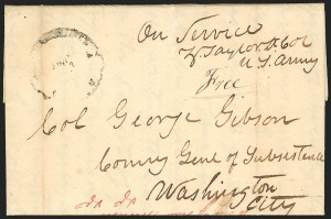 Sale Number 834, Lot Number 36, Presidential Autographs and Free FranksZachary Taylor, Zachary Taylor
