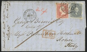 Sale Number 834, Lot Number 360, 1861-66 Issue (70a to 71)24c Steel Blue (70b), 24c Steel Blue (70b)