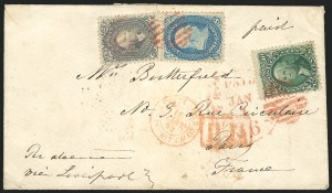 Sale Number 834, Lot Number 361, 1861-66 Issue (70a to 71)24c Steel Blue (70b), 24c Steel Blue (70b)