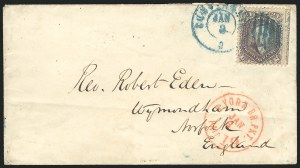 Sale Number 834, Lot Number 363, 1861-66 Issue (70a to 71)24c Violet, Thin Paper (70c), 24c Violet, Thin Paper (70c)