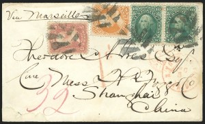 Sale Number 834, Lot Number 365, 1861-66 Issue (70a to 71)30c Orange (71), 30c Orange (71)
