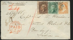 Sale Number 834, Lot Number 366, 1861-66 Issue (70a to 71)30c Orange (71), 30c Orange (71)