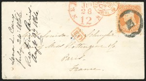 Sale Number 834, Lot Number 371, 1861-66 Issue (70a to 71)30c Orange (71), 30c Orange (71)