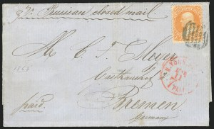 Sale Number 834, Lot Number 374, 1861-66 Issue (70a to 71)30c Orange (71), 30c Orange (71)
