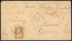 Sale Number 834, Lot Number 376, 1861-66 Issue (70a to 71)30c Orange (71), 30c Orange (71)