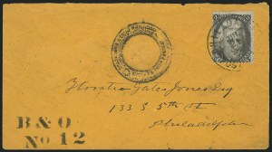 Sale Number 834, Lot Number 398, Specialized Collection of 1863-68 Black Jack Issues2c Black (73), 2c Black (73)