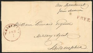 Sale Number 834, Lot Number 4, Presidential Autographs and Free FranksJames Madison, James Madison