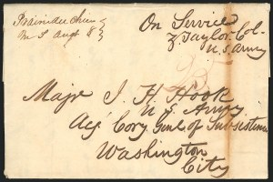 Sale Number 834, Lot Number 40, Presidential Autographs and Free FranksZachary Taylor, Zachary Taylor