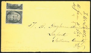 Sale Number 834, Lot Number 402, Specialized Collection of 1863-68 Black Jack Issues2c Black, Vertical Half Used as 1c (73d), 2c Black, Vertical Half Used as 1c (73d)