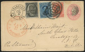 Sale Number 834, Lot Number 407, Specialized Collection of 1863-68 Black Jack Issues2c Black (73), 2c Black (73)