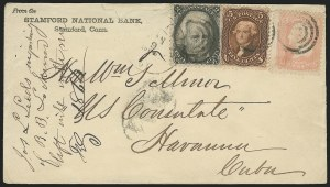 Sale Number 834, Lot Number 408, Specialized Collection of 1863-68 Black Jack Issues2c Black (73), 2c Black (73)