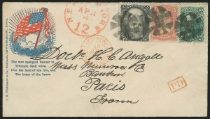 Sale Number 834, Lot Number 428, Specialized Collection of 1863-68 Black Jack Issues2c Black (73), 2c Black (73)
