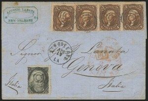 Sale Number 834, Lot Number 437, Specialized Collection of 1863-68 Black Jack Issues2c Black, 5c Brown (73, 76), 2c Black, 5c Brown (73, 76)