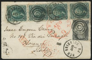 Sale Number 834, Lot Number 438, Specialized Collection of 1863-68 Black Jack Issues2c Black, 10c Green (68, 73), 2c Black, 10c Green (68, 73)