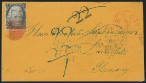 Sale Number 834, Lot Number 441, Specialized Collection of 1863-68 Black Jack Issues2c Black (73), 2c Black (73)