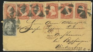 Sale Number 834, Lot Number 448, Specialized Collection of 1863-68 Black Jack Issues2c Black, 3c Red, F. Grill (93, 94), 2c Black, 3c Red, F. Grill (93, 94)