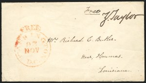 Sale Number 834, Lot Number 45, Presidential Autographs and Free FranksZachary Taylor, Zachary Taylor
