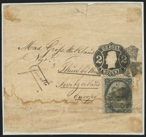Sale Number 834, Lot Number 452, Specialized Collection of 1863-68 Black Jack Issues2c Black (73), 2c Black (73)