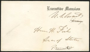 Sale Number 834, Lot Number 52, Presidential Autographs and Free FranksUlysses S. Grant, Ulysses S. Grant