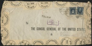 Sale Number 834, Lot Number 594, 1870-93 Bank Note Issues15c Indigo (227), 15c Indigo (227)