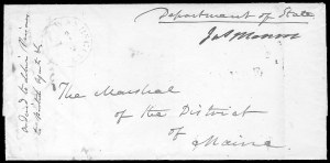Sale Number 834, Lot Number 7, Presidential Autographs and Free FranksJames Monroe, James Monroe