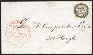 Sale Number 834, Lot Number 728, Locals (CA Penny Post thru WesttownEagle City Post, Philadelphia Pa., (2c) Black (61L2), Eagle City Post, Philadelphia Pa., (2c) Black (61L2)