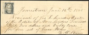Sale Number 834, Lot Number 807, U.S. Postage Used as Revenues2c Black (73), 2c Black (73)
