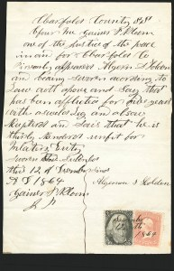 Sale Number 834, Lot Number 809, U.S. Postage Used as Revenues2c Black (73), 2c Black (73)