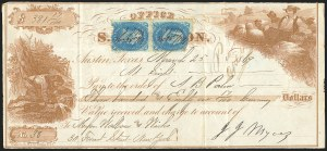 Sale Number 834, Lot Number 812, U.S. Postage Used as Revenues1c Blue, F. Grill (92), 1c Blue, F. Grill (92)