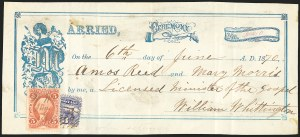 Sale Number 834, Lot Number 815, U.S. Postage Used as Revenues3c Ultramarine (114), 3c Ultramarine (114)