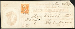 Sale Number 834, Lot Number 816, U.S. Postage Used as Revenues15c Bright Orange (152), 15c Bright Orange (152)