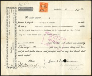 Sale Number 834, Lot Number 818, U.S. Postage Used as Revenues30c Orange Red (516), 30c Orange Red (516)