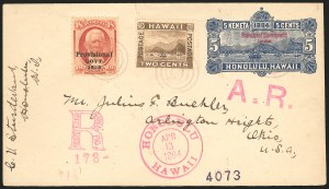 Sale Number 834, Lot Number 837, Hawaii1893, 18c Dull Red, Black Ovpt. (71), 1893, 18c Dull Red, Black Ovpt. (71)