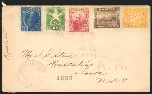 Sale Number 834, Lot Number 838, Hawaii1894, 1c-10c, 25c Final Issue (74-77, 79), 1894, 1c-10c, 25c Final Issue (74-77, 79)