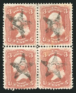 Sale Number 835, Lot Number 177, 1867-68 Grilled Issue (E Grill)3c Rose, E. Grill (88), 3c Rose, E. Grill (88)