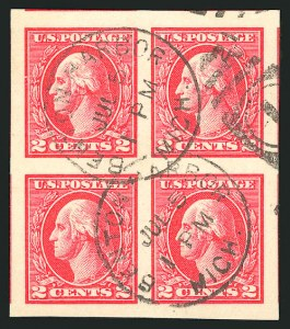 Sale Number 835, Lot Number 501, 1916-17 Washington-Franklin Issues (Scott 532 to 534A)2c Carmine, Ty. V, Imperforate (533), 2c Carmine, Ty. V, Imperforate (533)