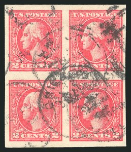 Sale Number 835, Lot Number 507, 1916-17 Washington-Franklin Issues (Scott 534B)2c Carmine, Ty. VII, Imperforate (534B), 2c Carmine, Ty. VII, Imperforate (534B)