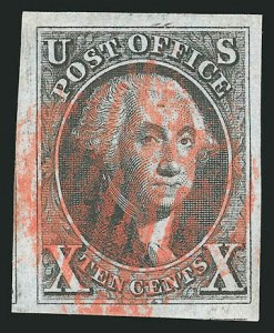 Sale Number 837, Lot Number 27, 10c 1847 Issue10c Black (2), 10c Black (2)