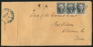 Sale Number 837, Lot Number 33, 10c 1847 Issue10c Black (2), 10c Black (2)