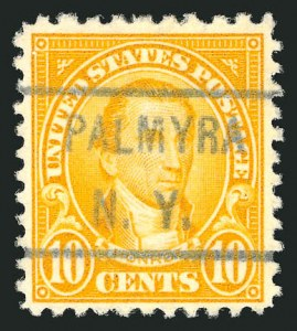 Sale Number 837, Lot Number 332, 1922-26 Issues10c Orange, Perf 10 at Top (562c), 10c Orange, Perf 10 at Top (562c)