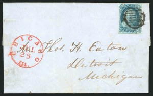 Sale Number 837, Lot Number 34, 1c 1851 Issue1c Blue, Ty. Ib (5A), 1c Blue, Ty. Ib (5A)