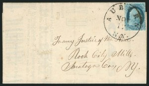 Sale Number 837, Lot Number 35, 1c 1851 Issue1c Blue, Ty. Ib (5A), 1c Blue, Ty. Ib (5A)