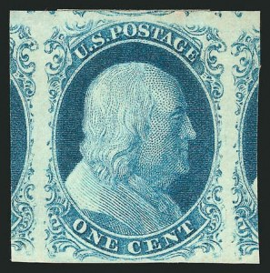 Sale Number 837, Lot Number 40, 1c 1851 Issue1c Blue, Ty. IIIa (8A), 1c Blue, Ty. IIIa (8A)