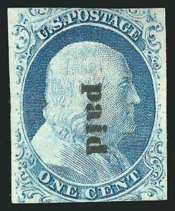 Sale Number 837, Lot Number 43, 1c 1851 Issue1c Blue, Ty. IV (9), 1c Blue, Ty. IV (9)