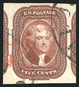 Sale Number 837, Lot Number 48, 3c-12c 1851-56 Issue5c Red Brown (12), 5c Red Brown (12)