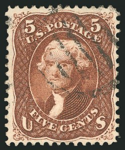 Sale Number 838, Lot Number 237, 1861-66 Issue (Scott 73 to 76)5c Red Brown (75), 5c Red Brown (75)