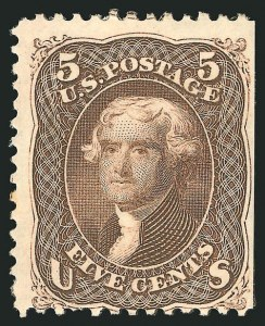 Sale Number 838, Lot Number 239, 1861-66 Issue (Scott 73 to 76)5c Brown (76), 5c Brown (76)